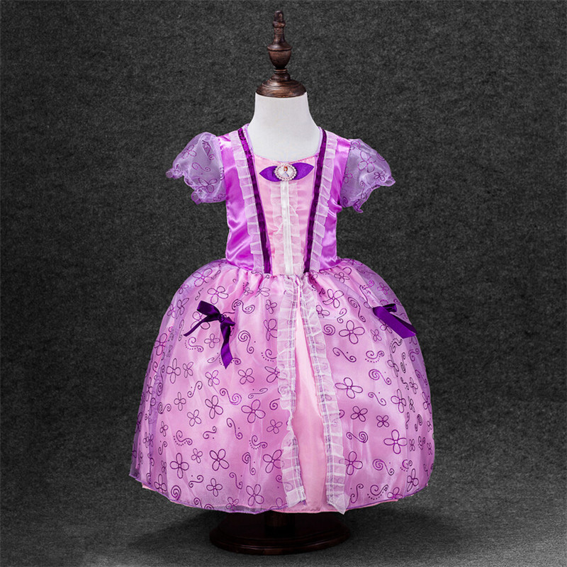 Kids Clothe 2017 Summer Lace Princess Dress Birthday Parties Evening Dress High Quality Childr Clothing little Girl puffy dress