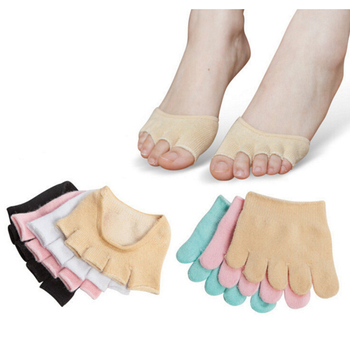 1 Pair Invisible Non Slip Toe Half Grip Heel Five Finger Socks Health Care Accessories  Feet Care Tools