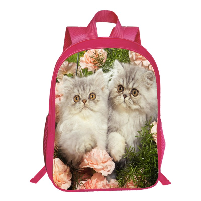 New Style Oxford 16-Inches Printing Animal 3D Pet Cat Women Backpacks Cute Tennager Girls School Bags for Children Book Bag Kids
