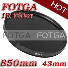 Venta al por mayor Filtro IR 43mm 850nm rayos X infrarrojos IR paso filtro 43mm 850nm