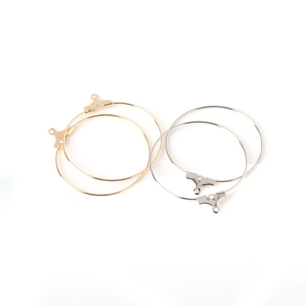 High Quality Copper 50pcs 30mm Jewelry Findings Charm Rings Earring ...