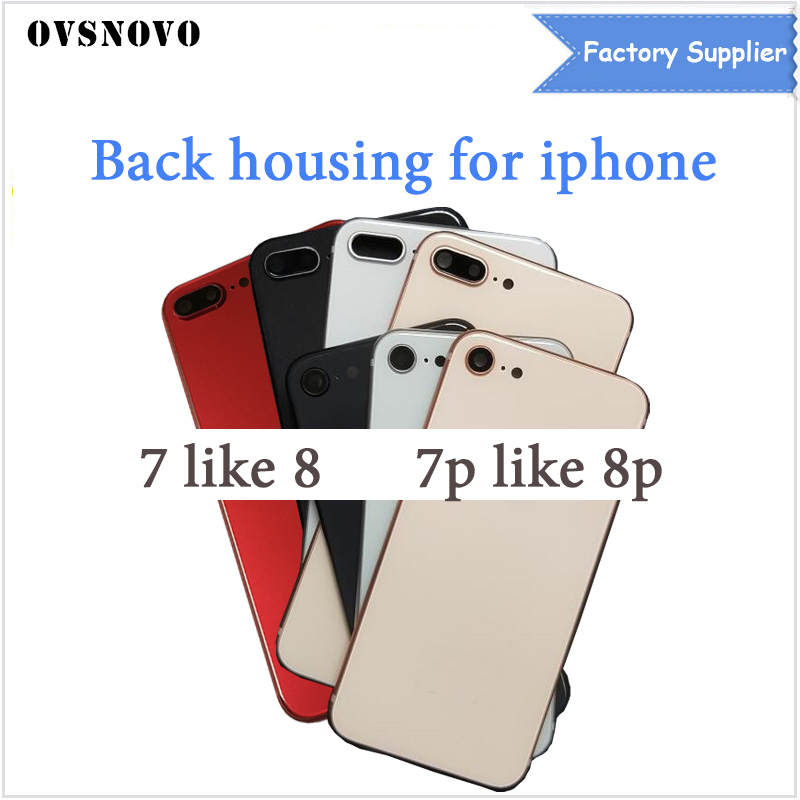 For iPhone 7G 7 Plus Back Battery Cover Rear Door Housing Case Middle Chassis 7P Replacement For iPhone 7 like 8 Back Housing
