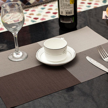 1 pc 45 30 cm Europe Style Table Mat PVC Heat insulated Placemat Dinning Bowl Waterproof