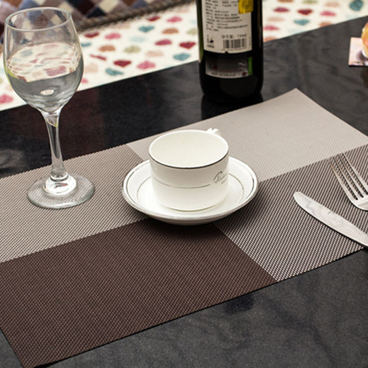 1 pc 45*30 cm Europe Style Table Mat PVC Heat-insulated Placemat Dinning Bowl Waterproof Dining Table 9 Colors Pad