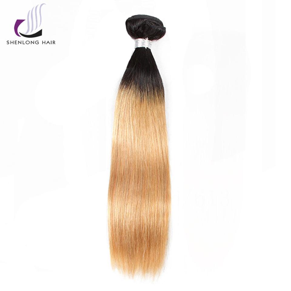 SHENLONG HAIR Straight Malaysian 1B-27 Human Hair Bundles 8-24 Inch 1 - Mänskligt hår (svart) - Foto 2