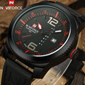 2017 naviforce marca de luxo relógios homens esporte militar relógios 3atm impermeável de quartzo relógios de pulso pulseira de couro preto caso