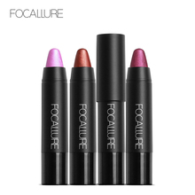 FOCALLURE Glitter Lipstick cosmetic Colorful longlasting Shimmer Matte Metal Style Red Lips Cosmetic makeup