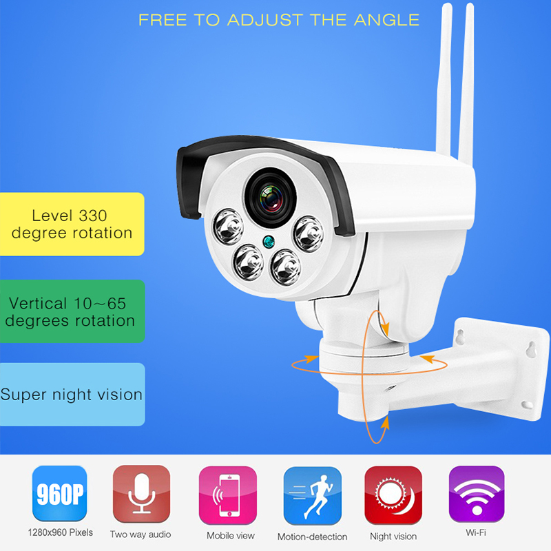 Waterproof Bullet Camera IP Network Wireless HD 960P Network Security Camera Home Surveillance Bullet Camera with Ethernet Port bullet camera tube camera headset holder with varied size in diameter