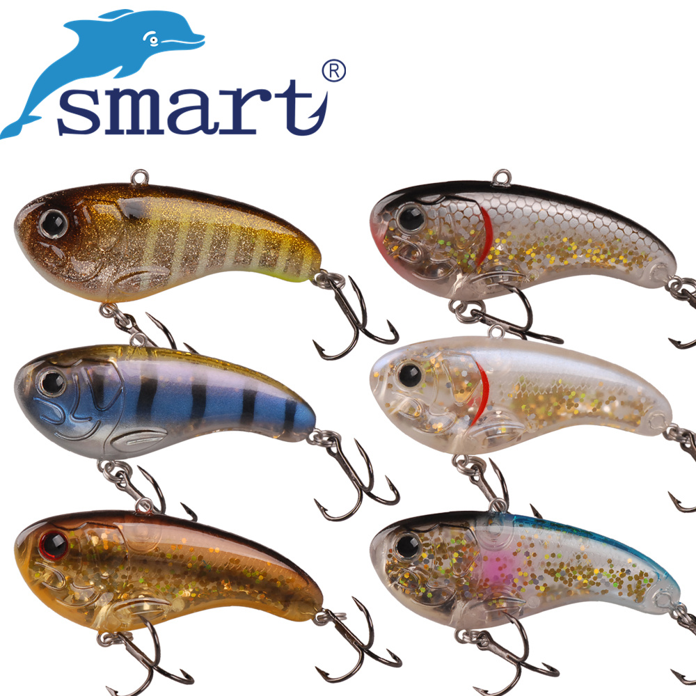 Smart VIB Bait 60mm/7.9g Sinking Fishing Lure VMC Hook Isca Artificial Fishing Wobblers Leurre Souple Swimbait wldslure 4pcs box 16g new artificial silicone soft sea fishing lures pesca sharp hook vib lead sinking lure bait wobbler