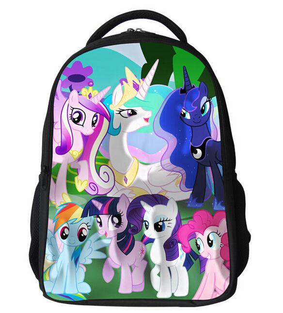 New Fashion Cartoon My Pony School Bags Children Cute Students Shoulder Schoolbag Teenagers Girls font b