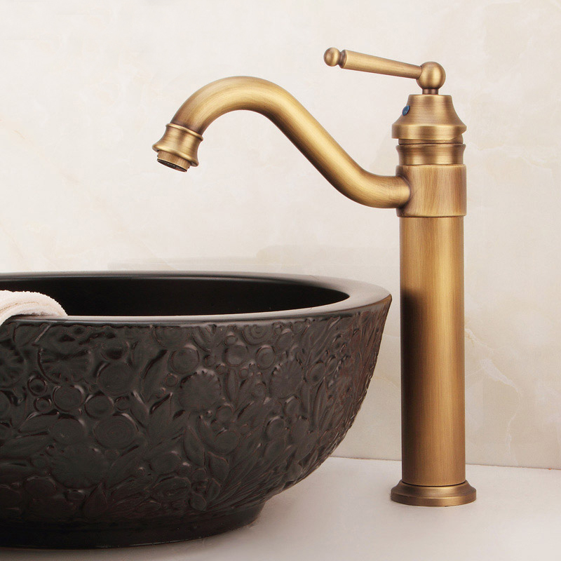 Basin Faucets All Copper Antique Single Hole Cold And Hot ...