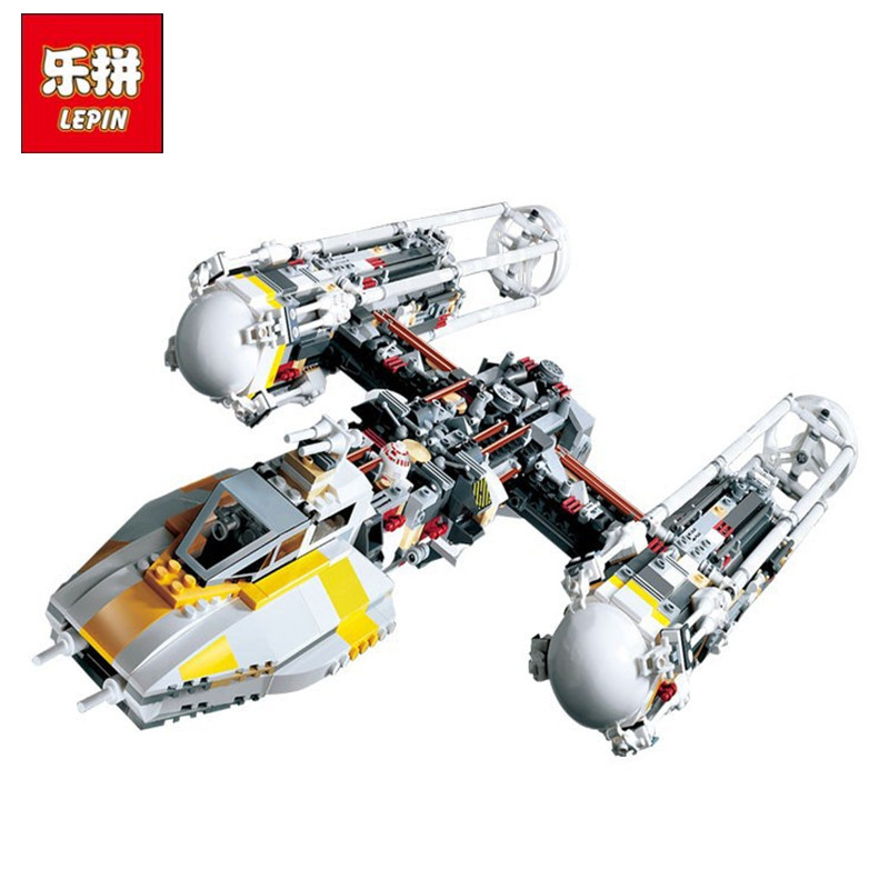 LEPIN 05040 1473Pcs Star Series Wars Y-wing Attack Starfighter Model Building Kits Blocks Bricks Children Toys Compatible 10134 lepin 05040 star series war the y set wing attack star model fighter building blocks assembled bricks toys compatible with 10134