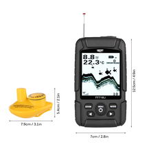 LUCKY Fish Finder Monitor Wireless Sonar Fishfinder 590ft/180m LCD LED Back Lighting Fishing Detector FF718Li Pesca Sounder