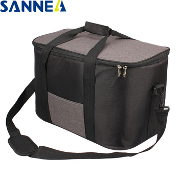 SANNE 34L Large capacity Famous Brand Waterproof Thermal Cooler Insulated Portable Tote Picnic Ice Hot Bag Coole Bag for Food sanne 25l large capacity plain color portable thermal coole bag for food famous brand waterproof thermal cooler insulated