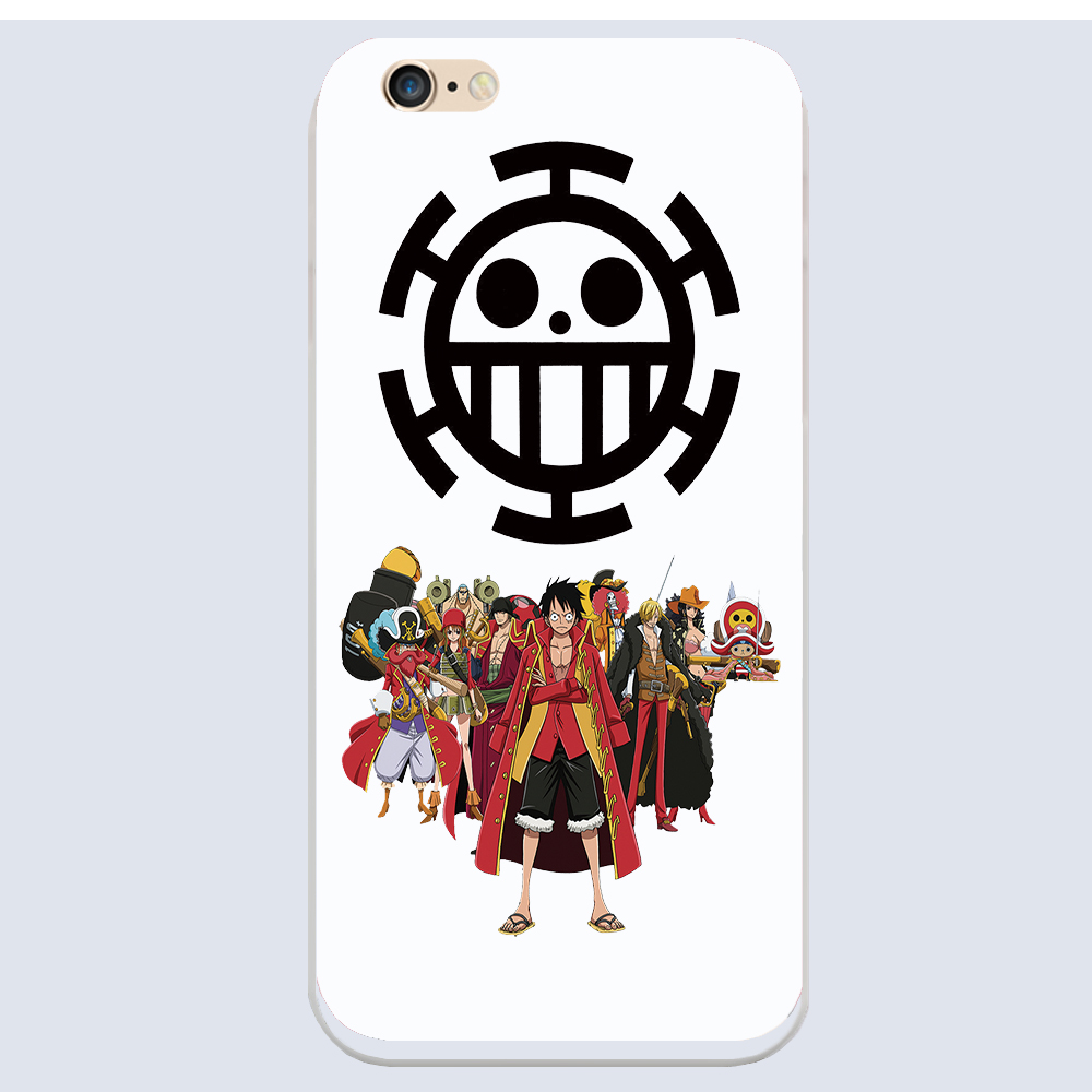 Cute Cartoon 1D One Piece Luffy black cover Hard shell phone cases For Apple iphone 5S 5 5C 4 4S 6 6S Plus