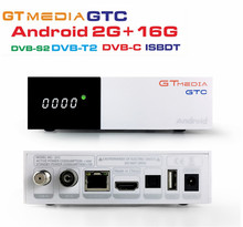 1Piece FREESAT GTMedia GTC Satellite TV Receiver DVB S2 C T2 ISDB T Android 6 0
