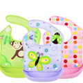 New Style Detachable Stereo Waterproof Apron For Children To Eat Cute Baby Infant Bib Slobber Pocket