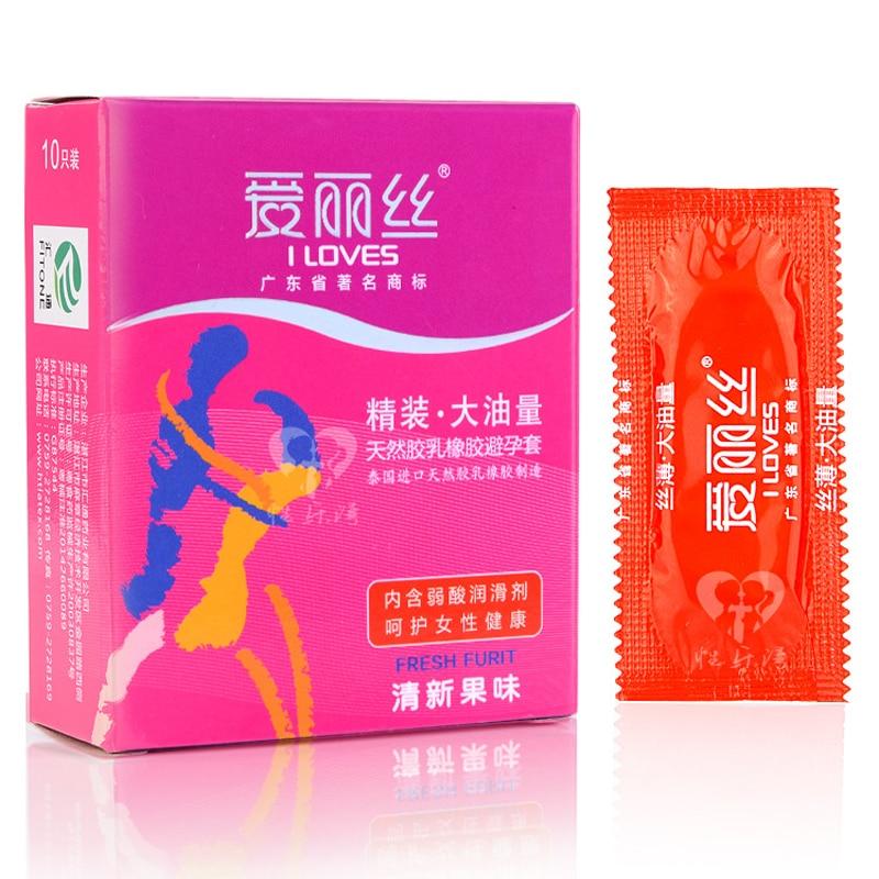 10 Pcs/Box Fresh Fruit Condom For Men Lots Lubricant Latex Condoms Penis Safe Preservativos Sex Toys For Men