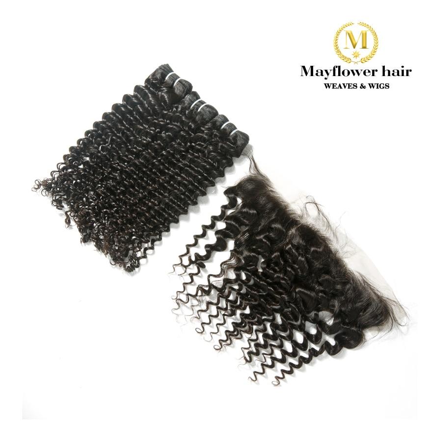 Mayflower 2/3/4 Bundles Virgin Malaysian Hair With 13x4