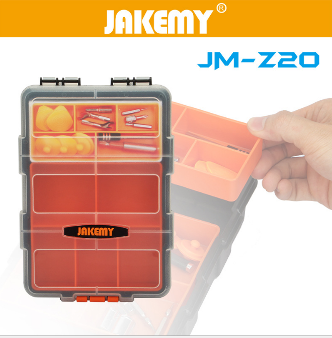 Jakemy Z20 Multi-Purpose Plastic PP Transparent Components Storage Box for Tools Case Parts Toolbox Repair JM-Z20 uwinka mc u6c multi in 1 water resistance shockproof memory card storage box red