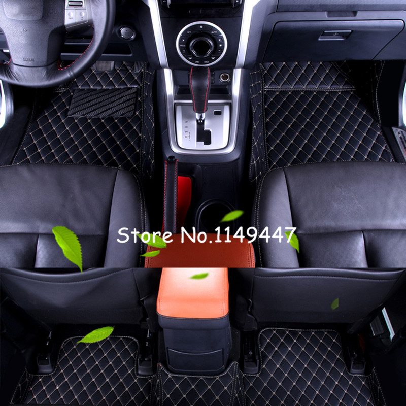 Left / Right hand drive! 5 seats Black Leather Floor Mat Pads & Carpets For Isuzu D-MAX 2012 2013 2014 2015 2016 2017 for isuzu emps iii 2014