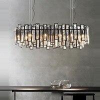 led g9 New Chinese Iron Crystal LED Lamp LED Light.Pendant Lights.Pendant Lamp.Pendant light For Dinning Room Foyer