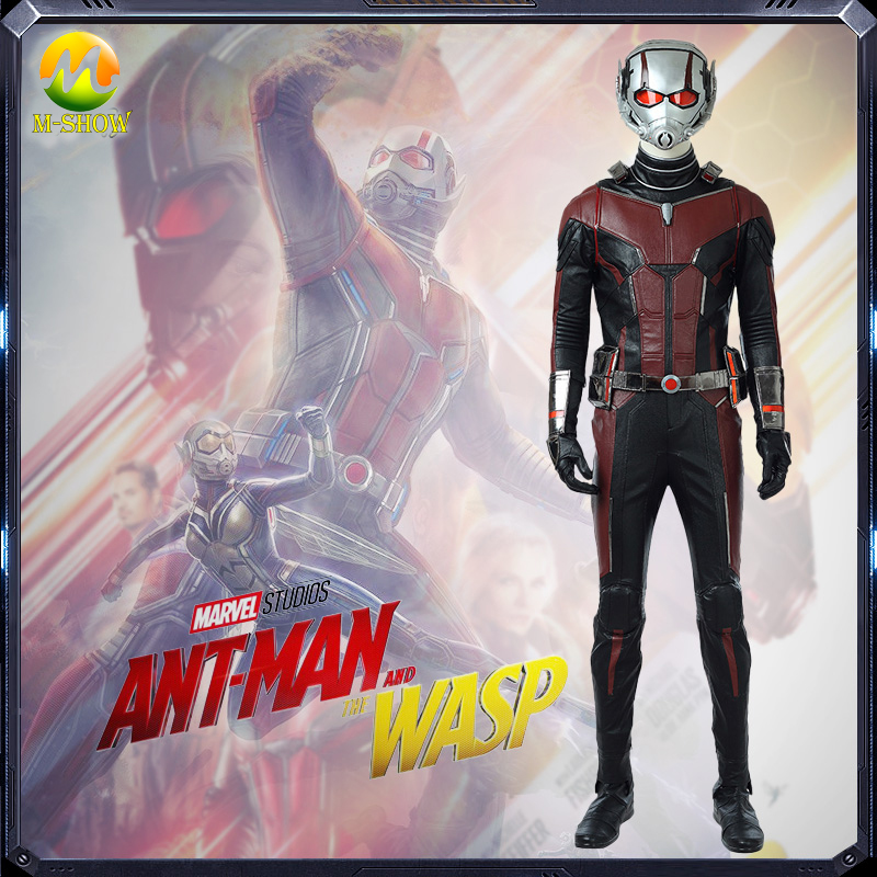 Ant Man 2 Cosplay Costume Scott Lang Cosplay Jumpsuit Ant man And The Wasp Cosplay Costume