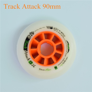 Image 3 - Track attack TS XFirm 110mm 100mm 90mm Inline Speed Skates Wheel using 608 bearing for Powerslide for MPC for STS 8pcs/lot