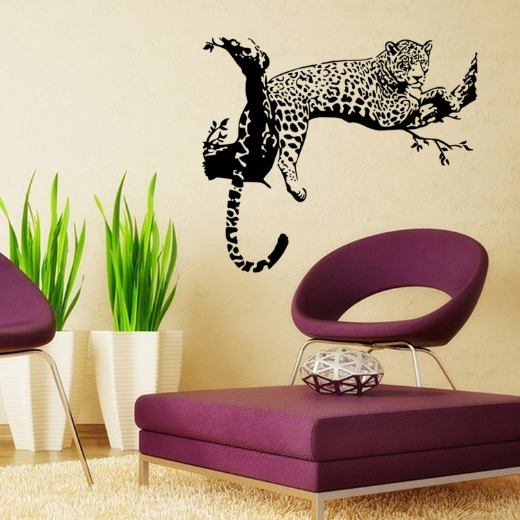 Aw5114 New Design Wall Stickers Animal Leopard Panther Big Cats Home  Decoration Wall Decals Removable Poster