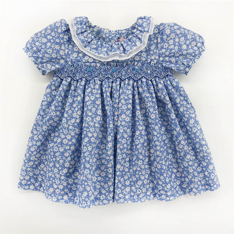 Kids Dresses For 2020 Summer Baby Girls Infant Party Doll Smocked Dress 1-3 Years Toddle Baby Princess Wedding Party Boutiques