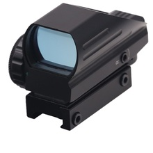 BIJIA Tactical Holographic  Reflex Red/Green Dot Scope 4 Reticle Red Laser Sight Rail Mount 22mm цена