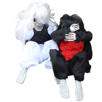 Liviorap Halloween Horror Props Automatic Voice Crying KTV Decor Halloween Scary Decorations Crying Ghost Decor Room Escape