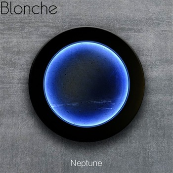 Modern Planet Wall Lamp Touch Led Wall Sconces for Bar Bedroom Bedside Bathroom Moon Mar Neptune Home Decor Night Light Fixtures