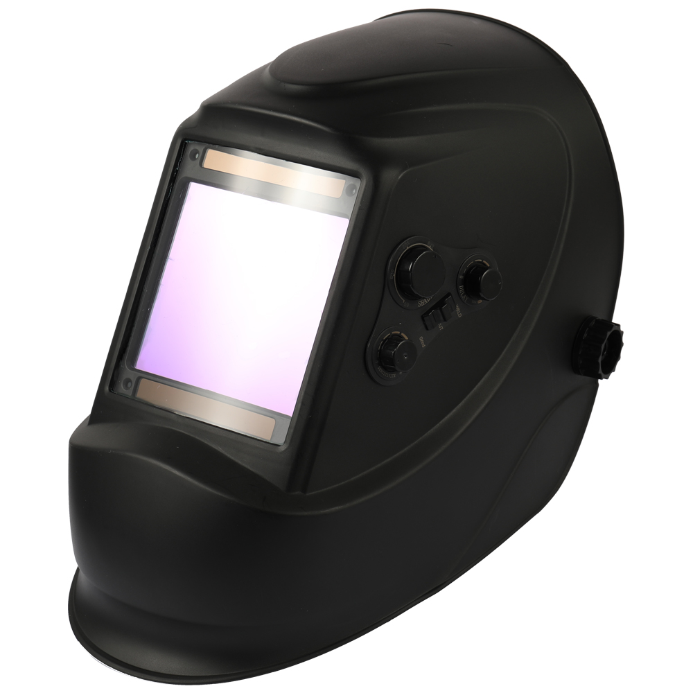 Solar Energy Automatic Dimming Welding Mask TIG Spot Welding Helmet Large Window and 4 Sensors External