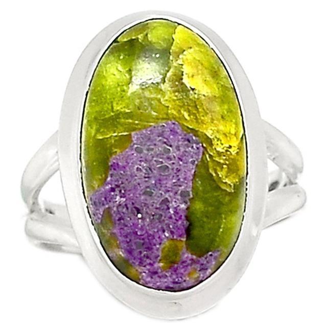 Lovegem Genuine STICHTITE Ring 925 Sterling Silver, Size : 8.25, AR1754