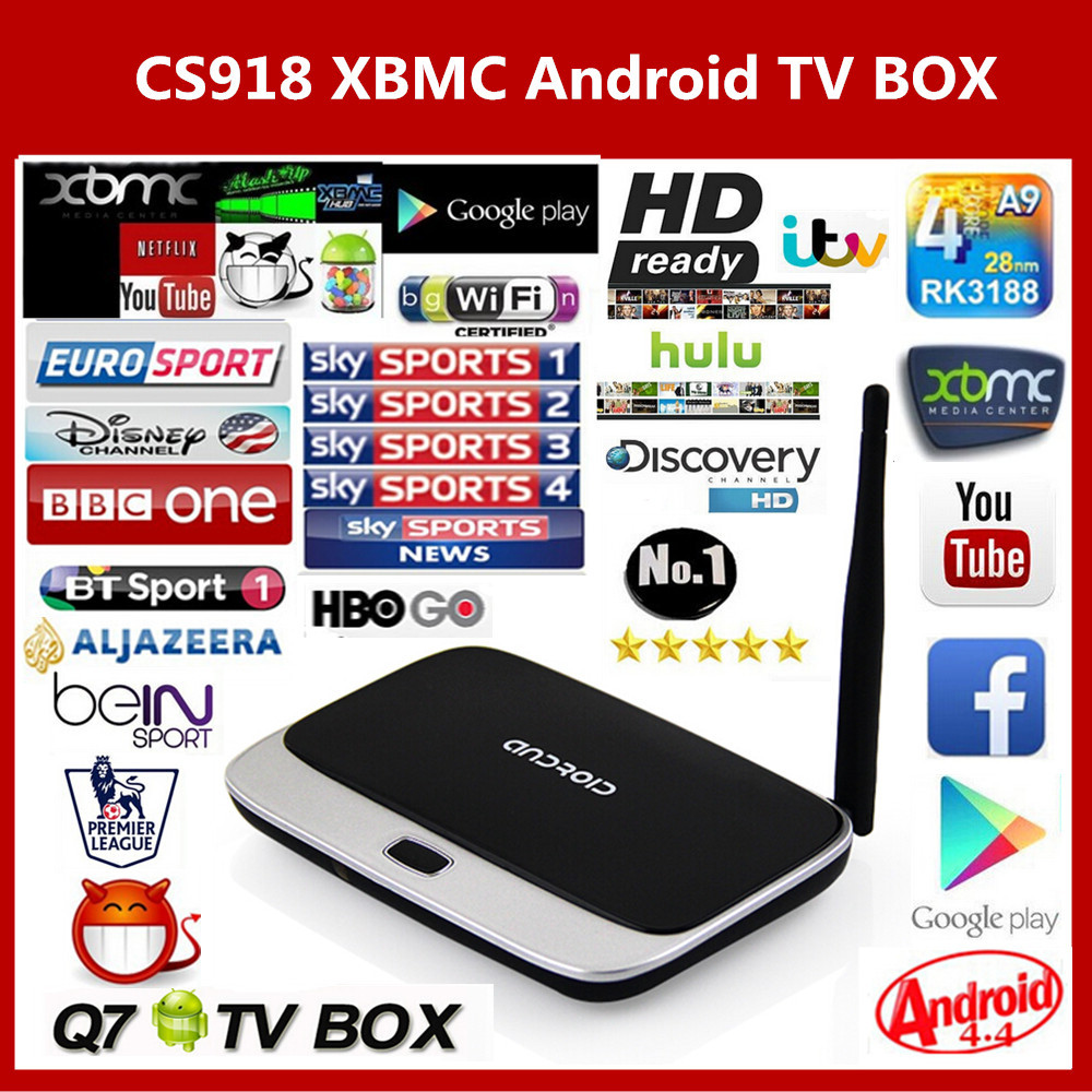 Arabic IPTV BOX XBMC Fully Loaded Android TV Box Quad Core