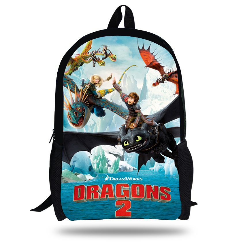 16-inch Mochila Infantil How to Train Your Dragon Backpack Children School Bags Boys Hiccup Toothless Backpack Kids Age 7-13