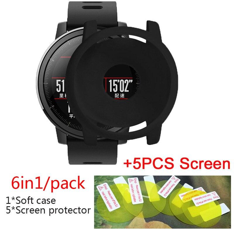 2x lámina cubierta para Huami amazfit Stratos//Stratos 2 Edge Screen Display protección