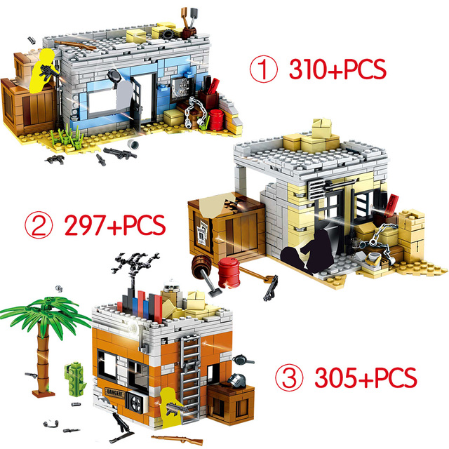 912PCS Player Unknown's Battlegrounds Compatible Ww2 Army Military Soldiers Weapon PUBG Building Blocks Kids Toys Set