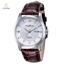 Время История Бренда Классические Мужские Часы Водонепроницаемый Полый Часы для Мужчин Бизнес Кварцевые Ремень Из Натуральной Кожи Наручные Часы