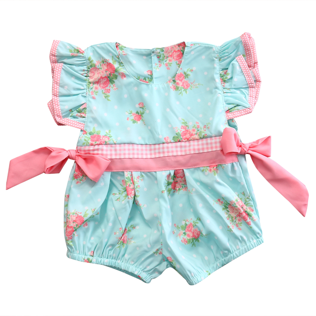 2017 Newborn Baby Girl Clothes Bowknot Ruffle Floral Romper Jumpsuit Outfits Sunsuit Summer Girls Clothes Cotton Baby Onesie newborn infant baby clothes girls floral lace off shoulder ruffle romper jumpsuit outfit sunsuit summer one piece baby onesie