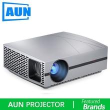 AUN HD Projector F20, 4000Lumens 1280*800P,HDMI,VGA,USB,HIFI Speaker,Home Cinema(Optional Android version Suppor 1080P,4K,AC3)