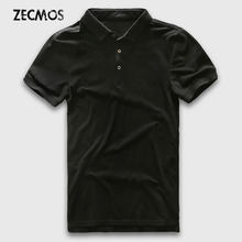 Polo Shirt Men Slim Fit Luxury Polo Men Short Sleeve Solid Cotton Business Casual Fashion Jerseys Brand Summer Polo Man(China)