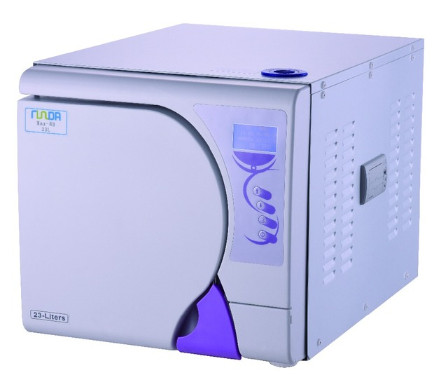 Steam Sterilizer 18L LCD Display Steam Dental Autoclave Sterilizer with printer free shipping to Europe ClassB Autoclave