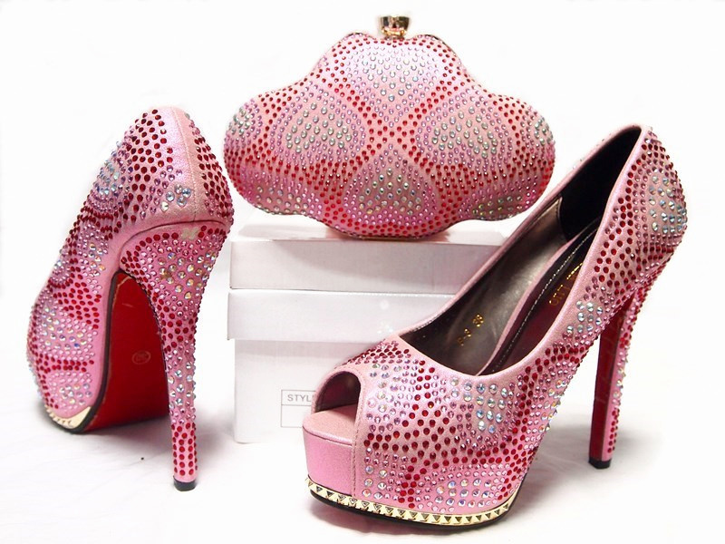 2016 New coming African Italian shoes and bags to match shoes with bag set JA10 4