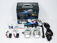 2.5HQ Hot Sale 2.5'' inch Auto HID Lens Projector H7 H4 H1 9005 9006 8000K 6000K CCFL Car Bi 2018 kit Double Angel Eyes