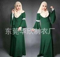 2016 fashion abaya muslim girl long dress turkish women clothing burqa dubai arab djellaba evening dress 4 colors