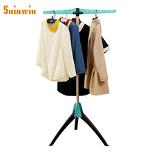 Sainwin 1pcs Multifunctional Hanger Metal Plastic Clothing Hangers For Clothes Magic Clothes Drying Rack Folding Travel Racks