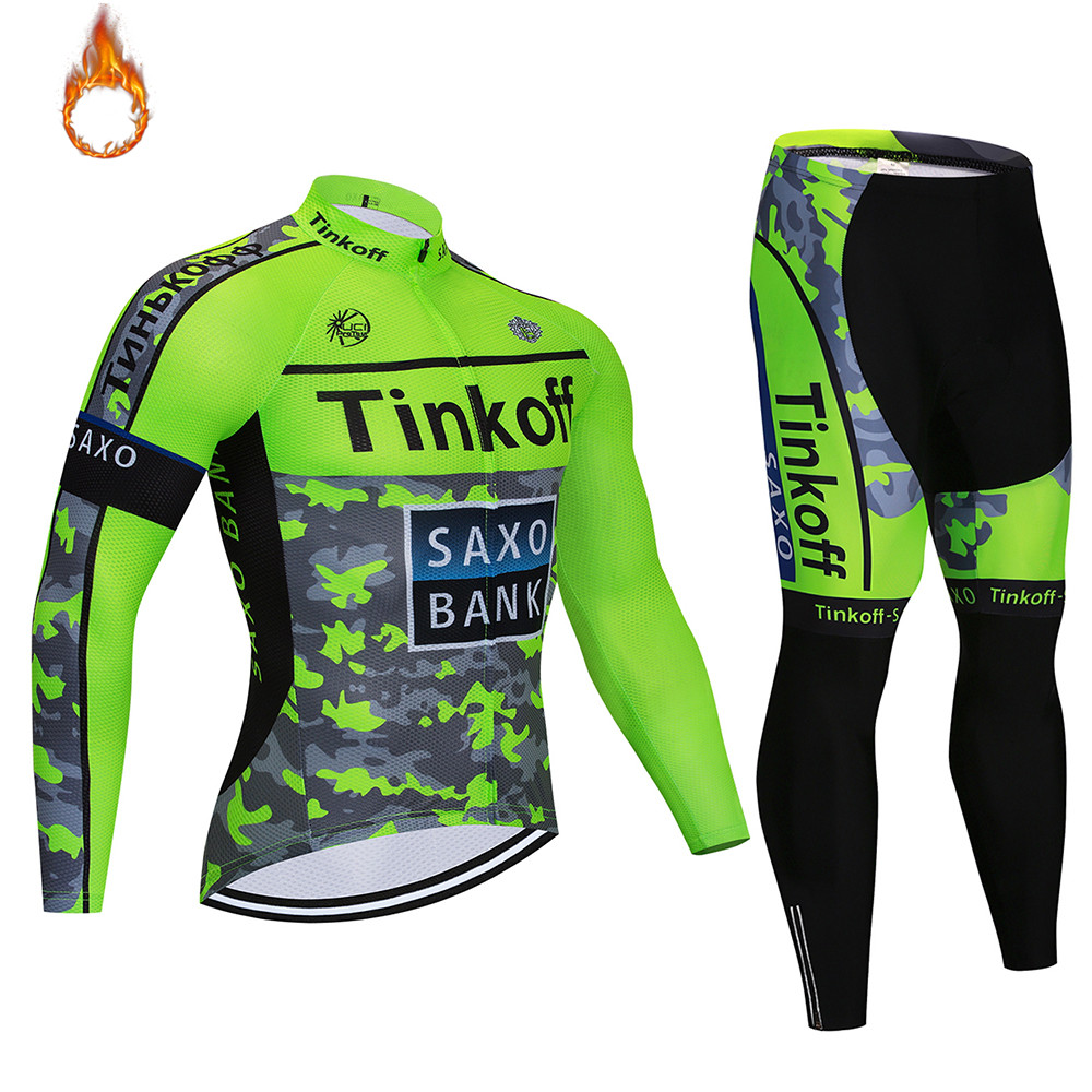 Cycling Jersey TINKOFF Tour   Cycling Set Winter Thermal Fleece Long Sleeves Suit Maillot Bike Clothing Ropa CiclismoCycling Jersey TINKOFF Tour   Cycling Set Winter Thermal Fleece Long Sleeves Suit Maillot Bike Clothing Ropa Ciclismo