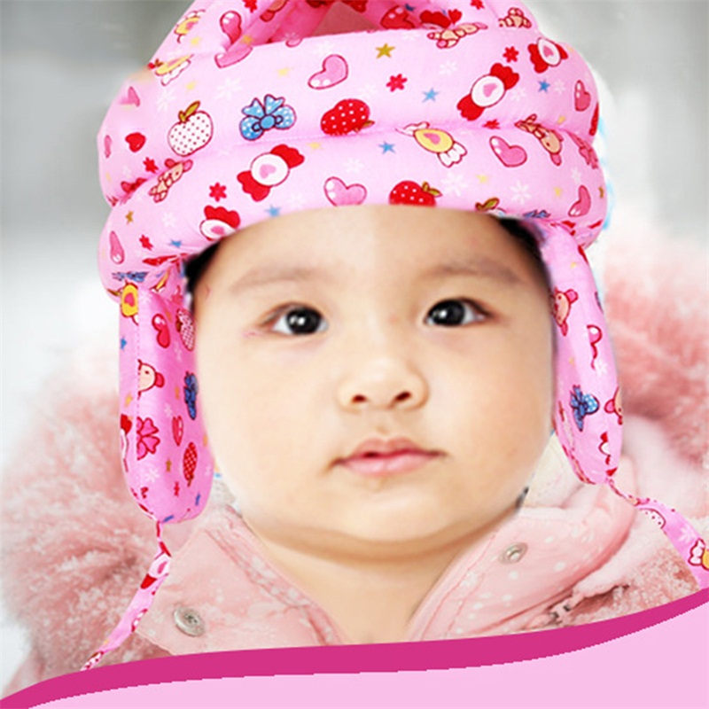 Baby Protector Hat Adjustable Infant Toddler Walking Play Head Protect Training Anti-Bumps Cap Safety Helmet Headguard Hats